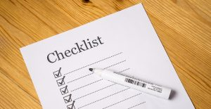 Creating a checklist for interstate moving.