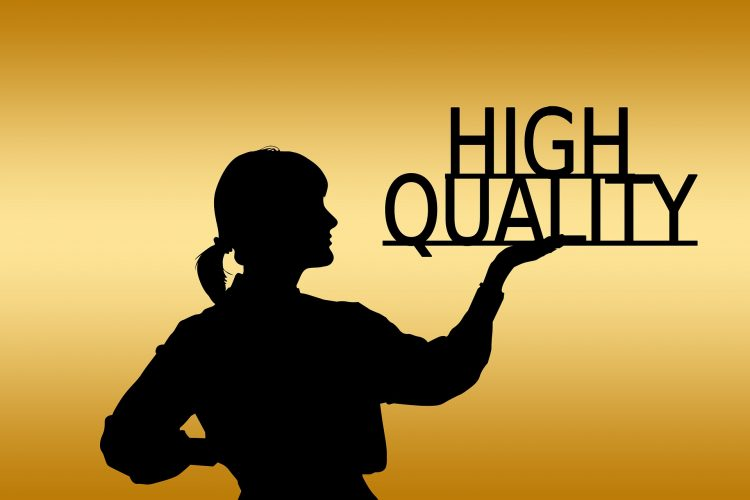 Qualities of a good mover will show you a person holding high quality sign.