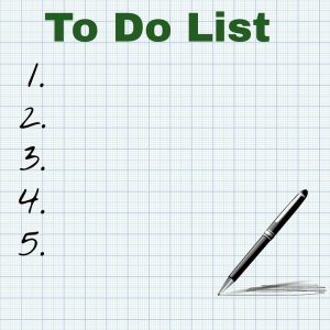 A to-do list is the perfect beginning when downsizing your home.