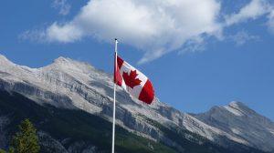 Canada pole flag