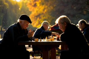 Playing chess with your friends