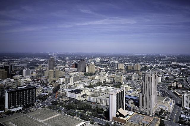 A San Antonio cityscape.