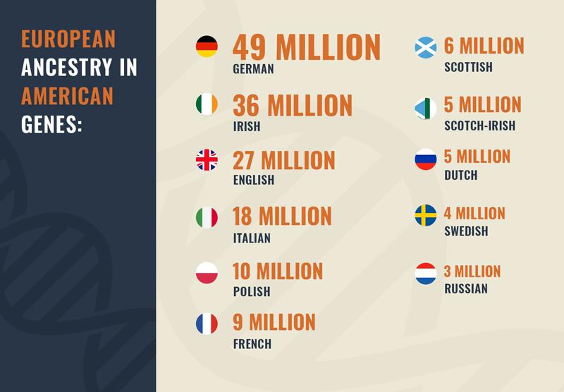 European ancestry in American genes.