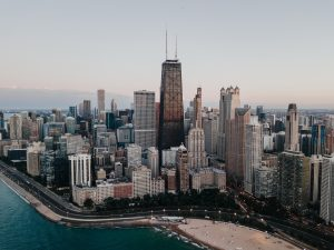 aerial photo of chicago near body of water at daytime
