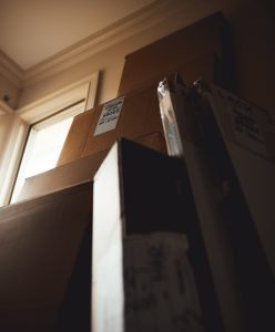 stacked cardboard boxes by professional packing services chicago