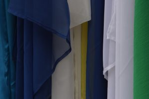 different fabrics next to eachother in a variety of colors