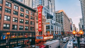 The Chicago theatre located in affordable neighborhoods to live in Chicago