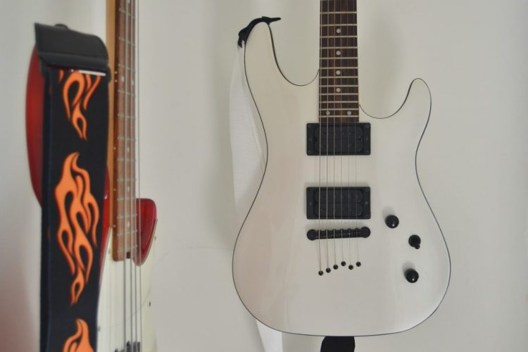 A valuable electric guitar which is one of the reasons why you should learn to protect your musical instruments in storage