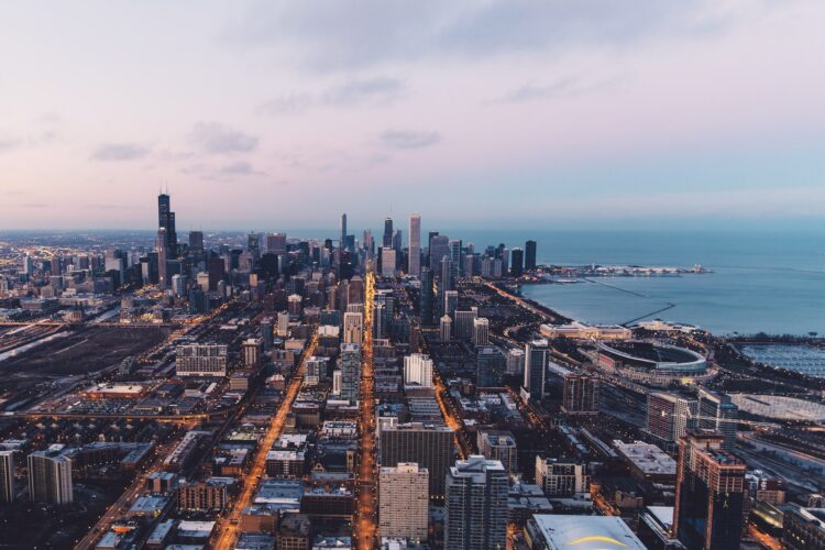 View of the most instagrammable places in Chicago from above