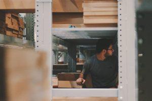 A person choosing a long term storage unit