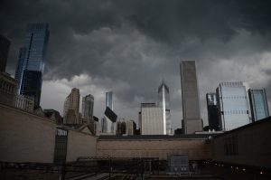 Cloudy weather in Chicago