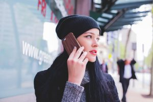 a girl on the phone