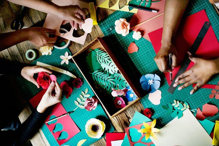 people making art