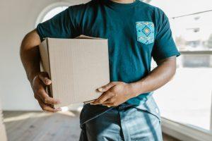 a person holding a box