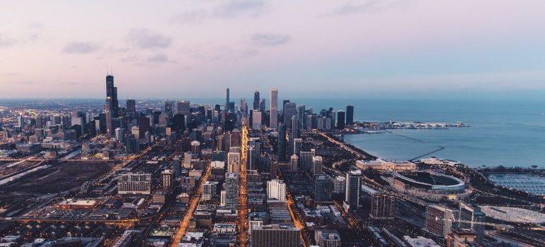 Chicago bird's view