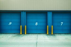 Blue storage units